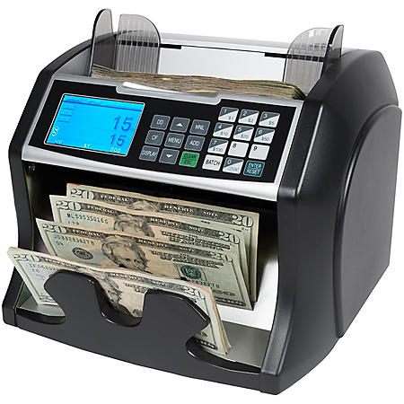 Royal Sovereign Bill Counter with Counterfeit Detection (1,400 bills per minute)