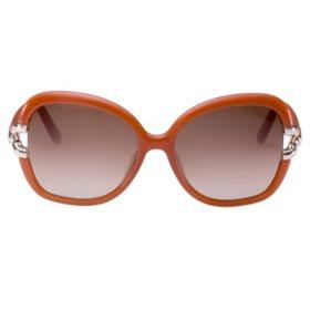 Chloe CE637S Sunglasses, Brick/Smoke Grey