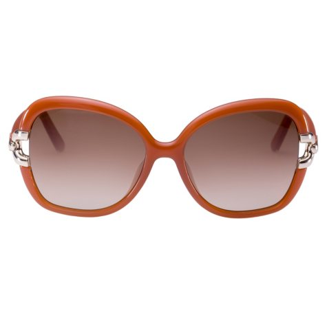 Chloe CE637S Sunglasses, Brick/Smoke Grey