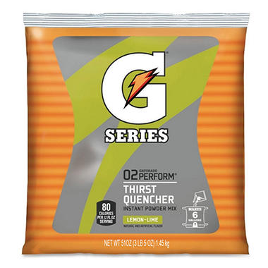 Lemon Lime Gatorade Mix - 51 oz. Bag