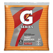 Fruit Punch Gatorade Mix - Makes up to 6 Gallons- 51 oz. Bag