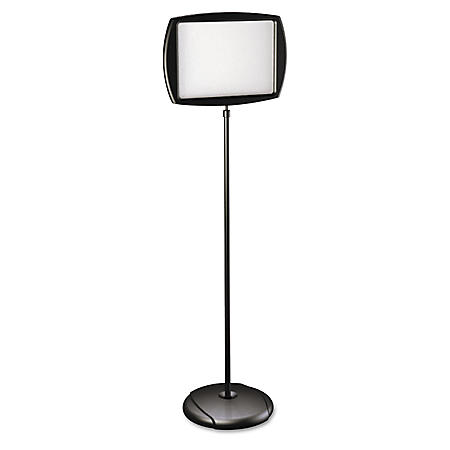 "MasterVision Floor Stand Sign Holder, Rectangle, 11"" x 15"" Sign, 66"" Tall"