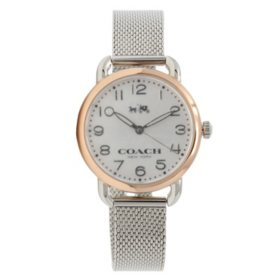 Women's Delancey Silver Stainless Steel Watch by COACH
