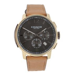 Men's Bleecker Leather Strap Watch by COACH
