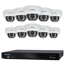AvertX 16-Channel 4MP HD IP NVR System with 6TB Hard Drive, 10 4MP HD+ Dome Cameras and 100' Night Vision