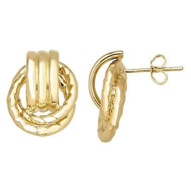 15mm Doorknocker Stud Earring In 14k Yellow Gold Sam S Club