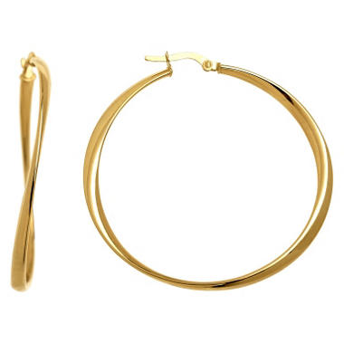 3x40mm Twisted Round Hoop Earring In 14k Yellow Gold Sam S Club
