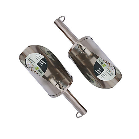 Iconic Pet Stainless Steel Pet Food Scoop, 2 pk. (Choose Your Size)