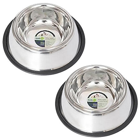 Iconic Pet Non Skid Spaniel and Cocker Bowl, 2 pk (Choose Your Size)
