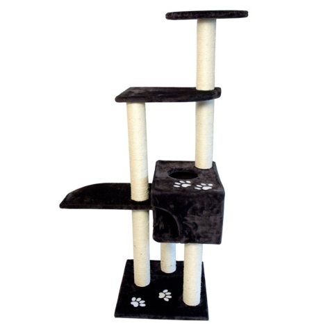 Iconic Pet High quality Mid Condo Cat Tree/Furniture, Dark Grey