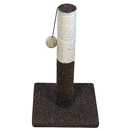 Iconic Pet Kitty Scratch Sisal Cat Scratching Post with Plush Toy (Choose Your Color)