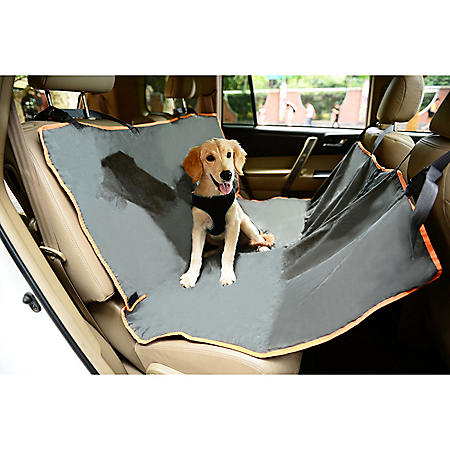 Iconic Pet FurryGo Hammock Pet Carseat Cover, Dark Grey
