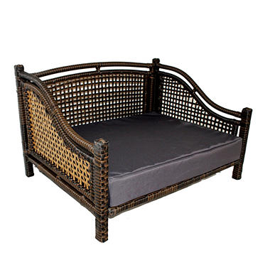 Iconic Pet Maharaja Rattan Pet Bed, Brown