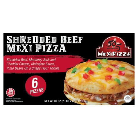 505 Southwestern Shredded Beef Mexi Pizza (6 ct.)