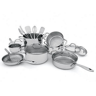 Wolfgang Puck Stainless Steel Cookware Set - 18 pc.  sc 1 st  Samu0027s Club & Wolfgang Puck Stainless Steel Cookware Set - 18 pc. - Samu0027s Club
