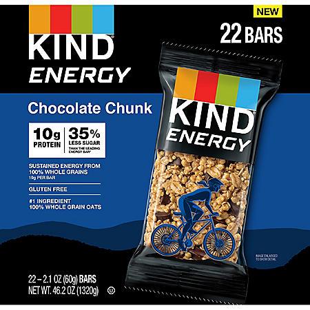 KIND Energy Bars, Chocolate Chunk (22 ct.)