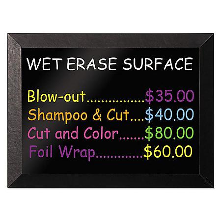MasterVision - Kamashi Wet-Erase Board, 48 x 36 -  Black Frame