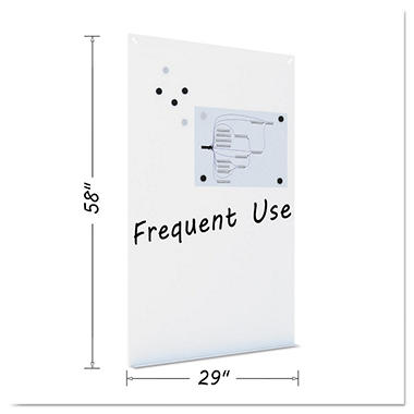 MasterVision - Magnetic Dry Erase Tile Board, 38 1/2 x 58 -  White Surface