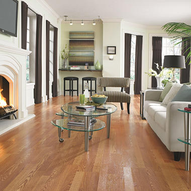 Laminate Flooring Living Room. Traditional Living Golden Amber Oak II Laminate Flooring  Sam s Club