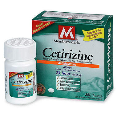 member's mark® cetirizine tablets - 10mg/350ct - sam's club, Skeleton