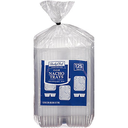 Daily Chef Clear Nacho Trays (125 ct.)