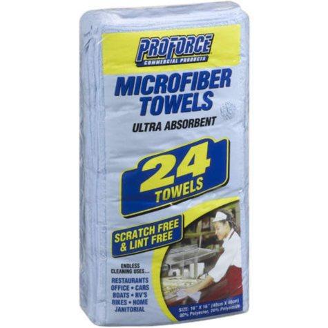 ProForce Microfiber Towels - 24 count