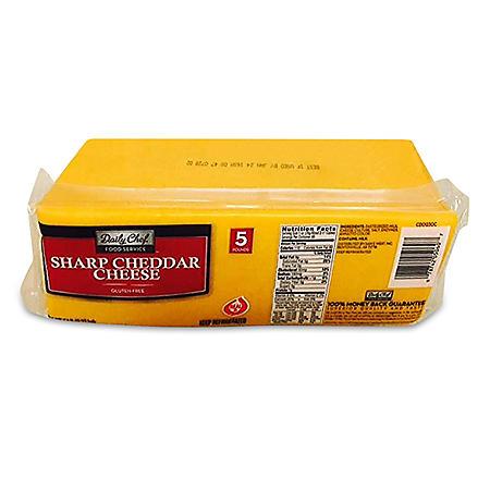 Daily Chef Sharp Cheddar Chunk - 5 lbs.