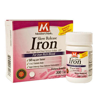 Members Mark® Slow Release Iron - 300ct