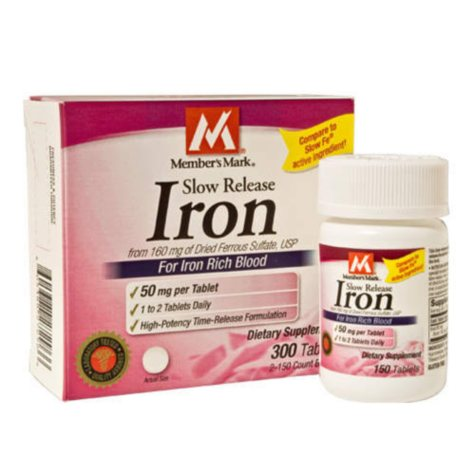 Members Mark® Slow Release Iron - 300ct