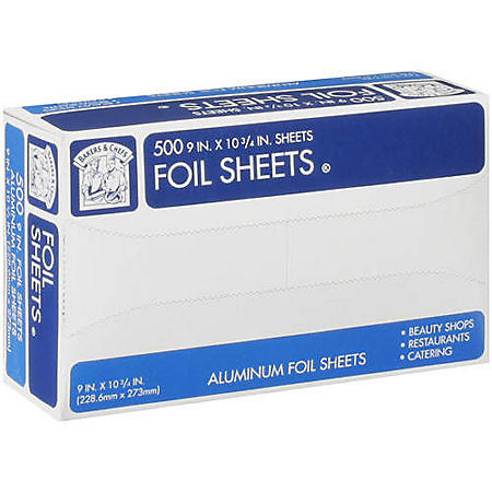 "Bakers & Chefs™ Foil Sheets - 9"" x 10"" - 500 ct."