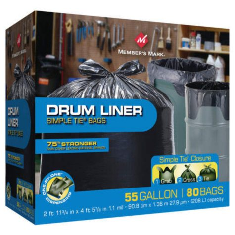 Member's Mark® Simple Tie® Drum Liners - 80ct