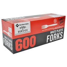 Member's Mark White Plastic Forks (600 ct.)