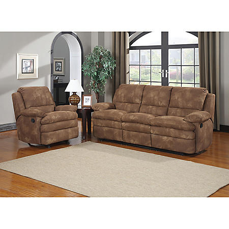 DUNCAN 2PC MOTION SOFA/RECLINER FABRIC