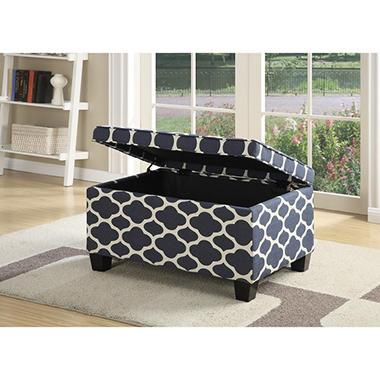 Merveilleux Jessa Upholstered Storage Ottoman