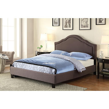 Peyton Camelback Upholstered Bed Queen Sam S Club