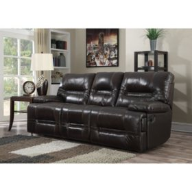 stapleton top grain leather reclining sofa - Sofa Leather