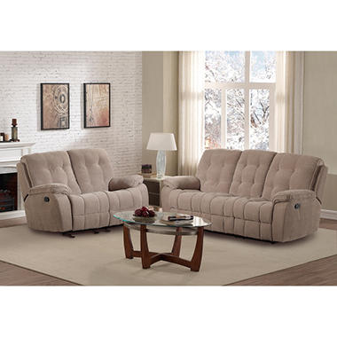 Reclining Sofa And Glider Loveseat Set Assorted Colors Sam 39 S Club