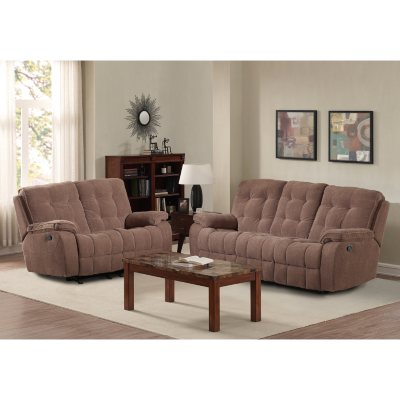 Reclining Sofa and Glider Loveseat Set