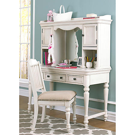 Adaline Desk, Hutch and Chair Set