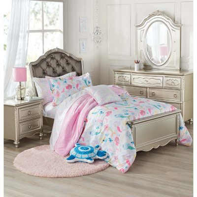 Shimmer 4 piece full bedroom set dealepic for Bedroom set deals
