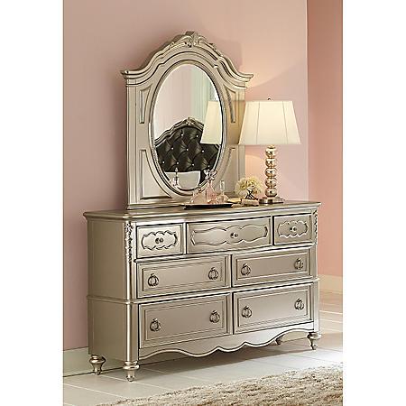 Shimmer 7-Drawer Dresser and Mirror