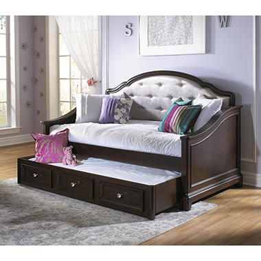 Elise Captain Twin Bed With Trundle Soft White