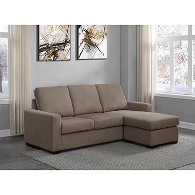 Jordan Taupe Fabric Sofa Chaise