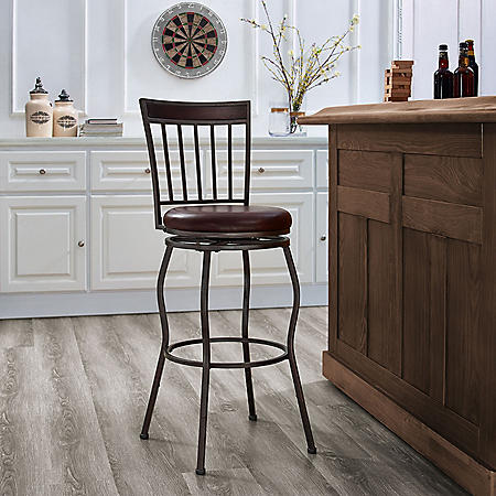 Metal 2-in-1 Leg Adjustable Barstool (Assorted Styles)