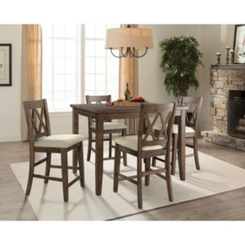 Home Meridian Oliver 5-Piece Counter-Height Dining Set