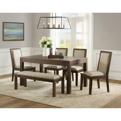 Hayden 6 Piece Dining Set With Bench