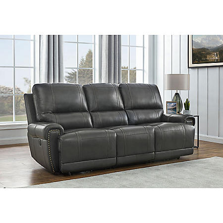 Holstead Top-Grain Leather Power Reclining Sofa