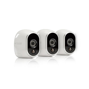 Arlo Smart Home Security System with 3 HD Wire-Free Cameras and Night Vision