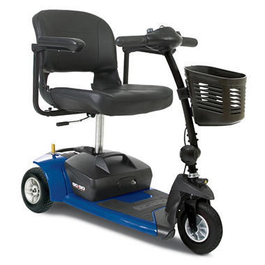 Blue Pride Mobility Go Go Ultra X 3 Wheel Travel Scooter with Bonus Features Includes Rear Basket, Cup Holder and Weather Cover
