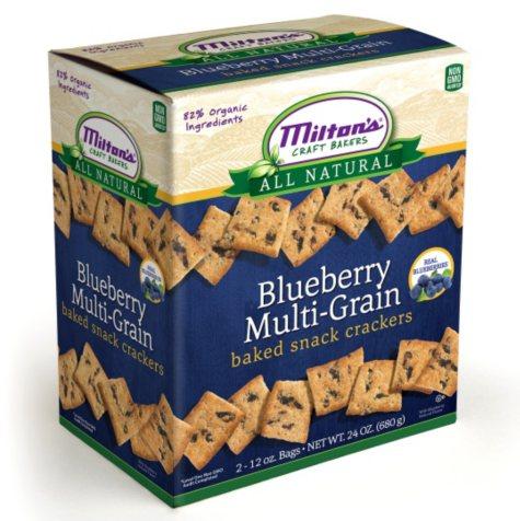 Milton's Blueberry Multi-Grain Baked Snack Crackers - 2 -12oz bags